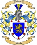 Ordonez Family Crest from Spain2