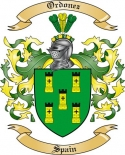Ordonez Family Crest from Spain