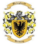 Oringderff Family Crest from Germany