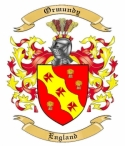 Ormundy Family Coat of Arms from England