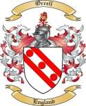 Orrell Family Coat of Arms from England