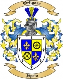 Ortigosa Family Crest from Spain