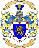 Ortis Family Crest from Spain2