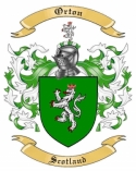 Orton Family Coat of Arms from Scotland