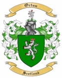 Ortun Family Coat of Arms from Scotland