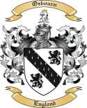 Osbourn Family Crest from England