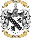 Osburn Family Crest from England