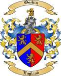 Osekin Family Crest from England