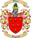 Owen Family Coat of Arms from England