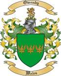 Owenby Family Crest from Wales
