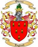 Owens Family Coat of Arms from England