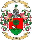 Owens Family Coat of Arms from Ireland