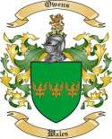 Owens Family Coat of Arms from Wales