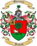 Owenson Family Coat of Arms from Ireland