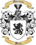 Owenson Family Coat of Arms from Wales2