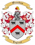 Oxendon Family Crest from England