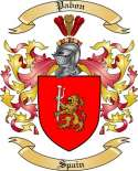Pabon Family Crest from Spain