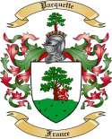 Pacquette Family Crest from France