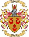 Pademan Family Crest from England