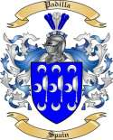 Padilla Family Crest from Spain
