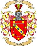 Pagan Family Coat of Arms from Spain