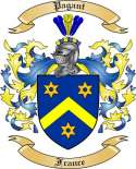 Pagant Family Crest from France