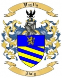Paglia Family Crest from Italy