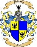 Palatino Family Crest from Italy