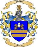Pallio Family Crest from Italy