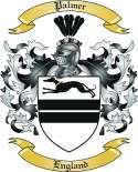 Palmer Family Crest from England
