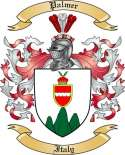 Palmer Family Coat of Arms from Italy