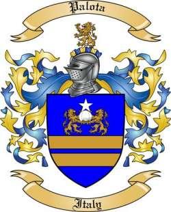 Palota Family Coat of Arms from Italy