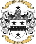 Panckhurst Family Crest from England