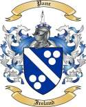 Pane Family Crest from Ireland