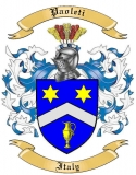 Paoleti Family Crest from Italy