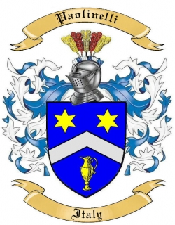 Paolinelli Family Crest from Italy