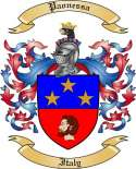 Paonessa Family Crest from Italy