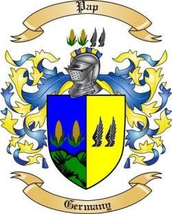 Pap Family Coat of Arms from Germany