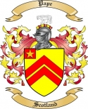 Pape Family Crest from Scotland