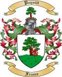 Paquitt Family Coat of Arms from France