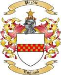 Pardie Family Crest from England