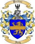 Pardino Family Crest from Italy