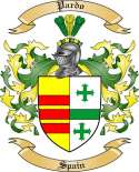 Pardo Family Crest from Spain