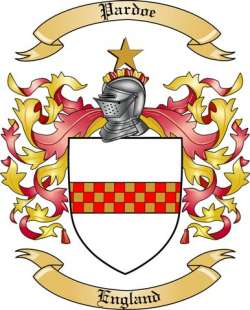 Pardoe Family Coat of Arms from England