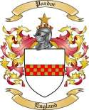 Pardoe Family Crest from England