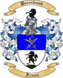 Parenteaud Family Crest from France