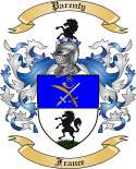 Parenty Family Coat of Arms from France