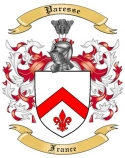Paresse Family Crest from France