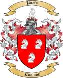 Paris Family Crest from England