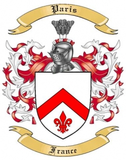 Paris Family Crest from France by The Tree Maker